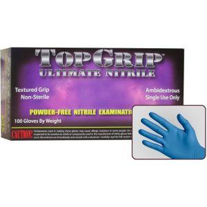 TopGrip Heavy-Duty Powder Free Nitrile Exam Gloves, Case